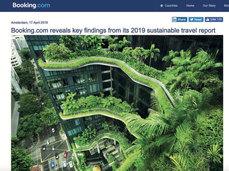 Leggi il report di Booking.com sul viaggio sostenibile
