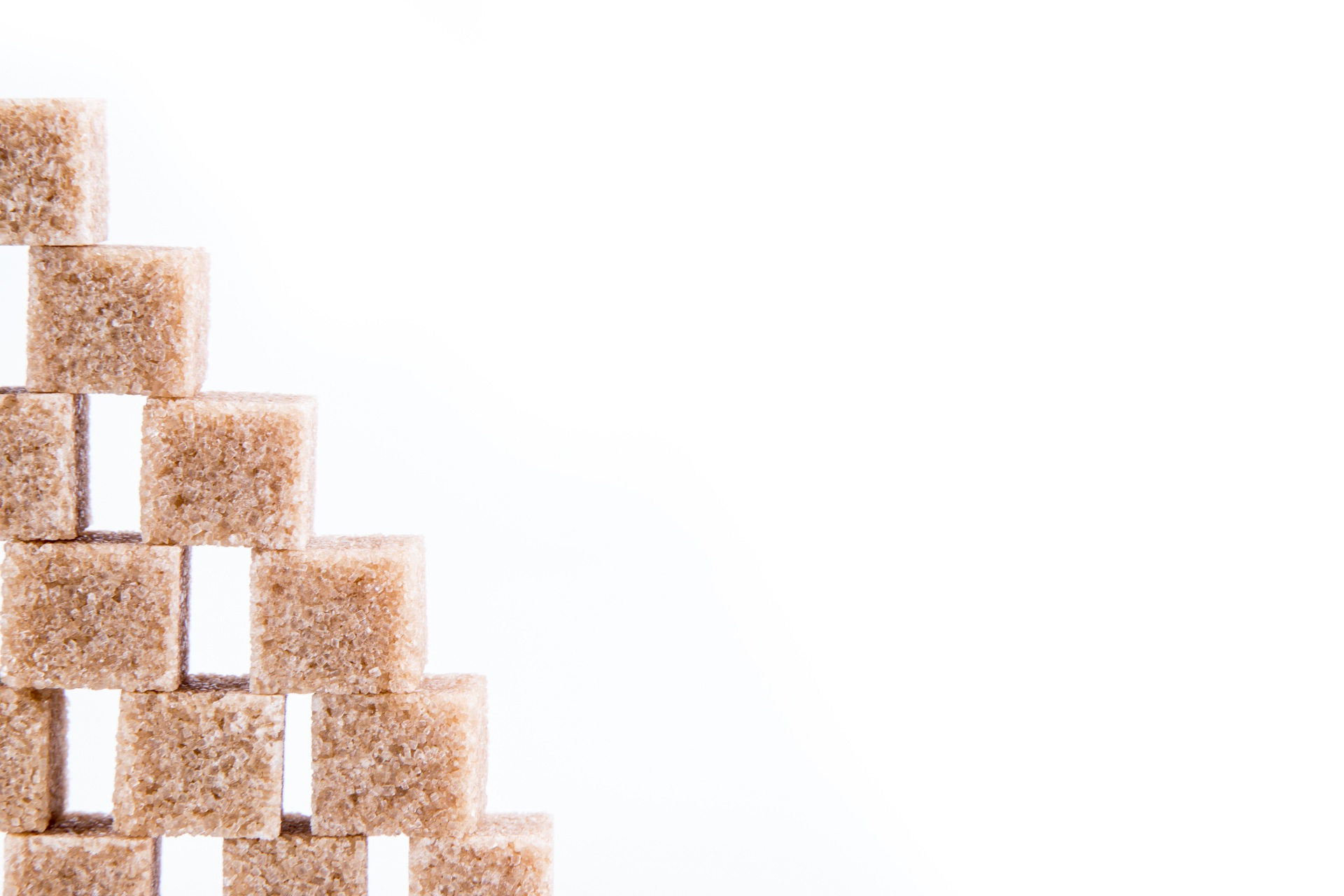 Muro di zollette di zucchero