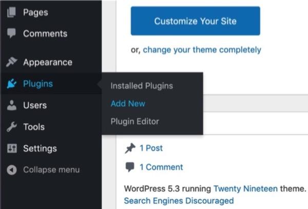 Aggiungere un nuovo plugin in WordPress