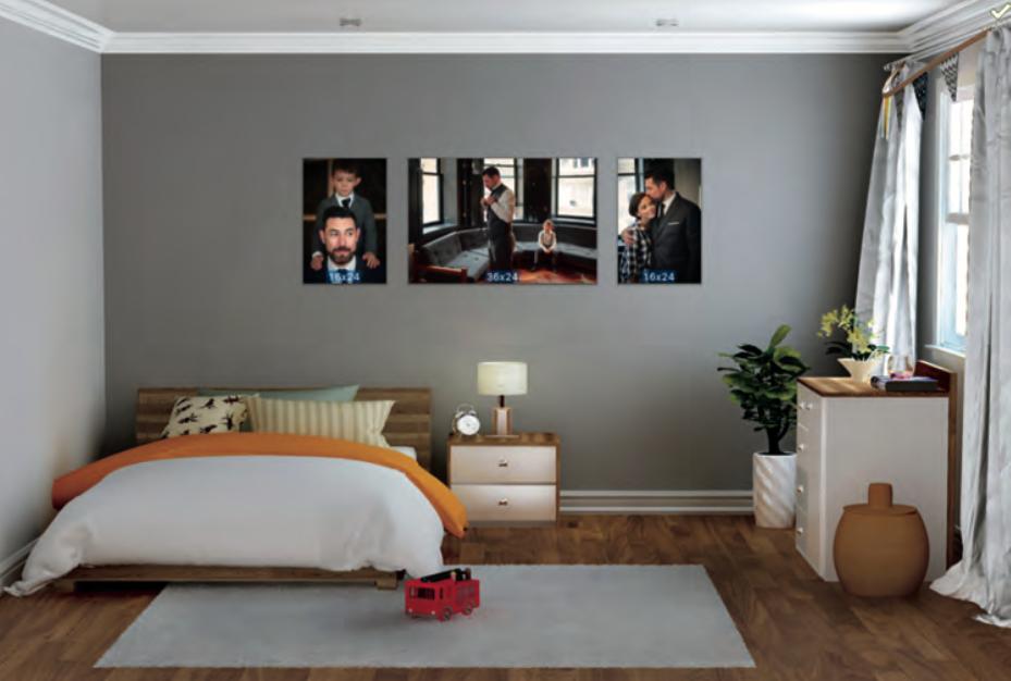 Ambientazione virtuale delle foto nella stanza scelta dal cliente