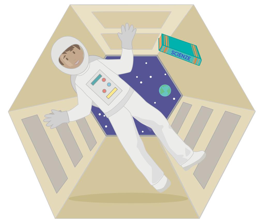 L'assenza di peso degli astronauti in orbita è apparente