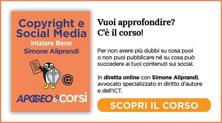 Banner Corsi Articoli Aliprandi Copyright Online