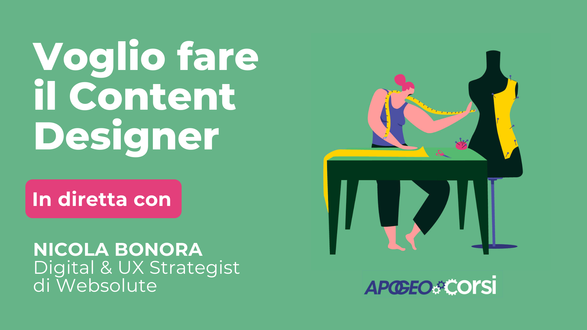 Bonora - Voglio fare il content designer