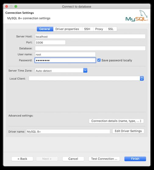 Connessione al database MySQL