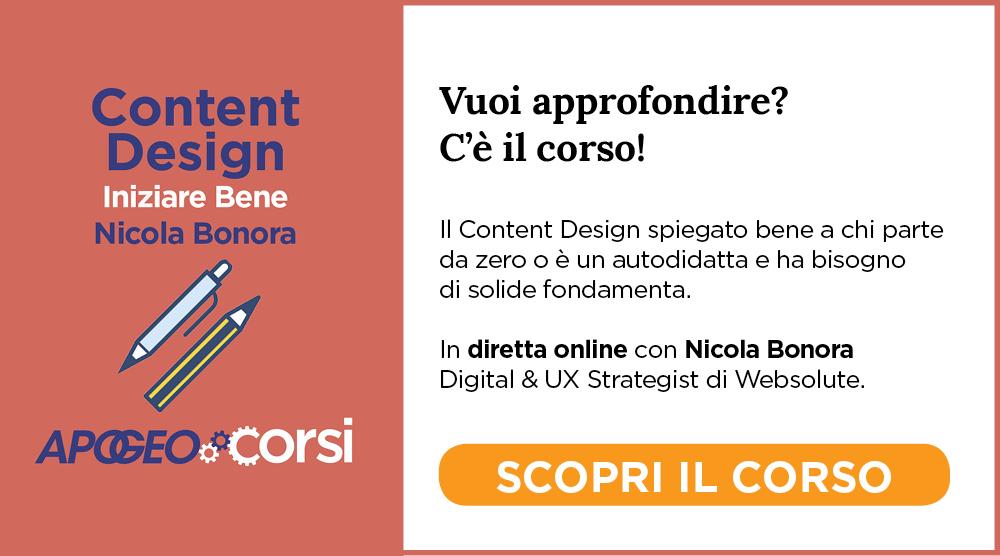 Content Design Iniziare Bene Nicola Bonora