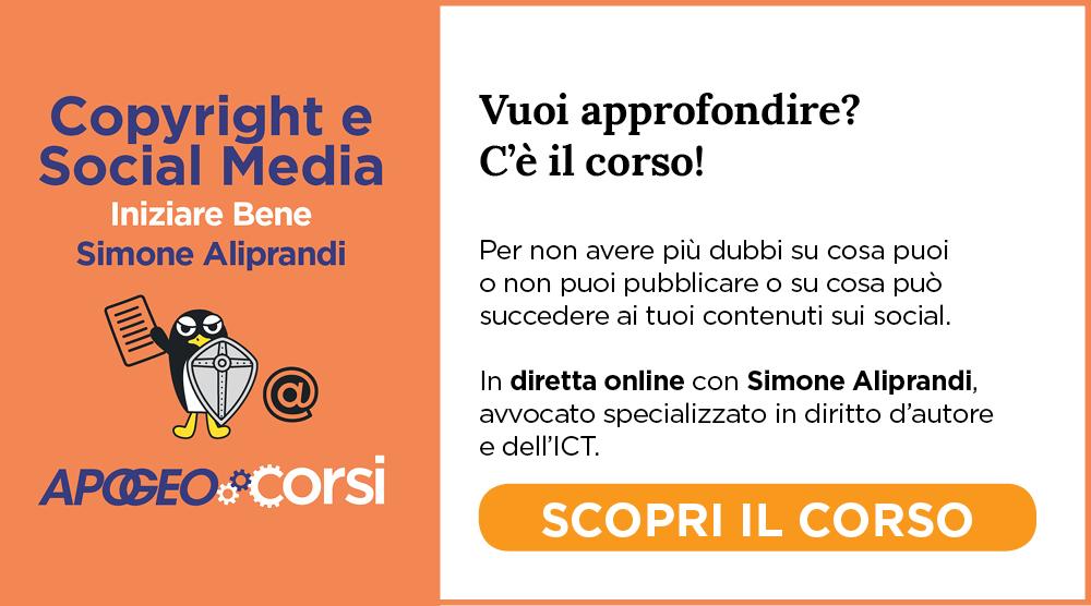 Copyright E Social Media, con Simone Aliprandi