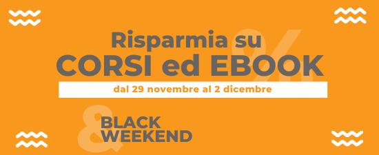 Risparmia su corsi ed ebook dal 29 novembre al 2 dicembre