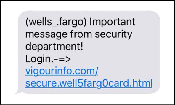 SMiShing contro Wells Fargo