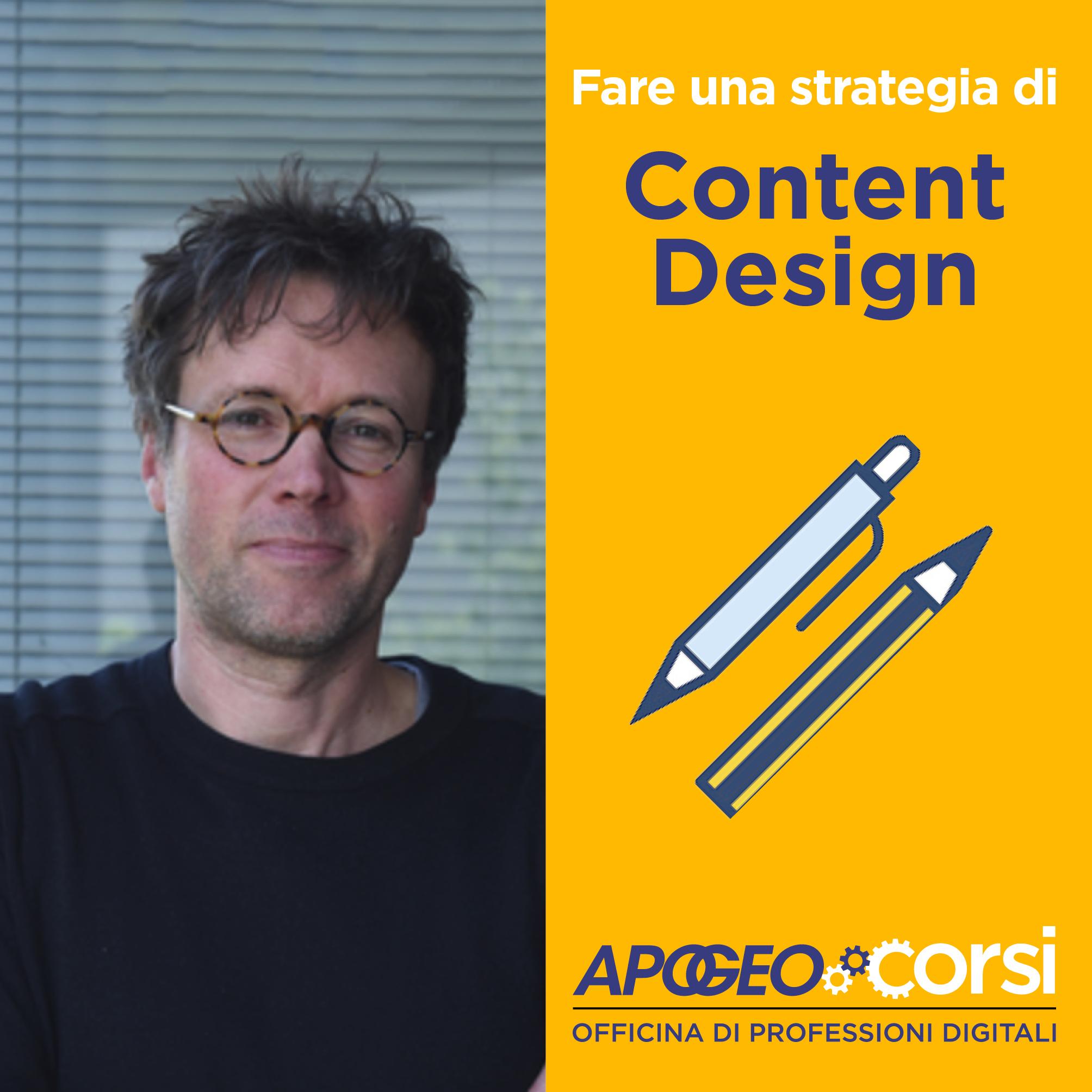Fare una strategia di Content Design, di Nicola Bonora