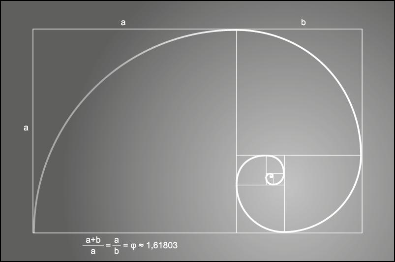 Rappresentazione grafica della sezione aurea