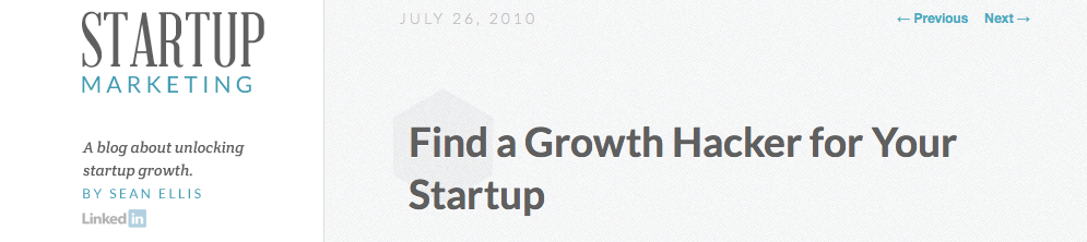 Find a Growth hacker for Your Startup