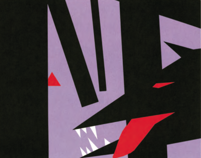 Forme tuttora semplici, ma più dinamiche, eccitanti e spaventose. I principi di Molly Bang spiegano perché. (Da Picture This, © 2000 Molly Bang. Utilizzato dietro autorizzazione di Chronicle Books, LLC)