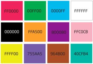 I numeri esadecimali vengono utilizzare per rappresentare i colori nel linguaggio con cui sono scritte le pagine web su Internet