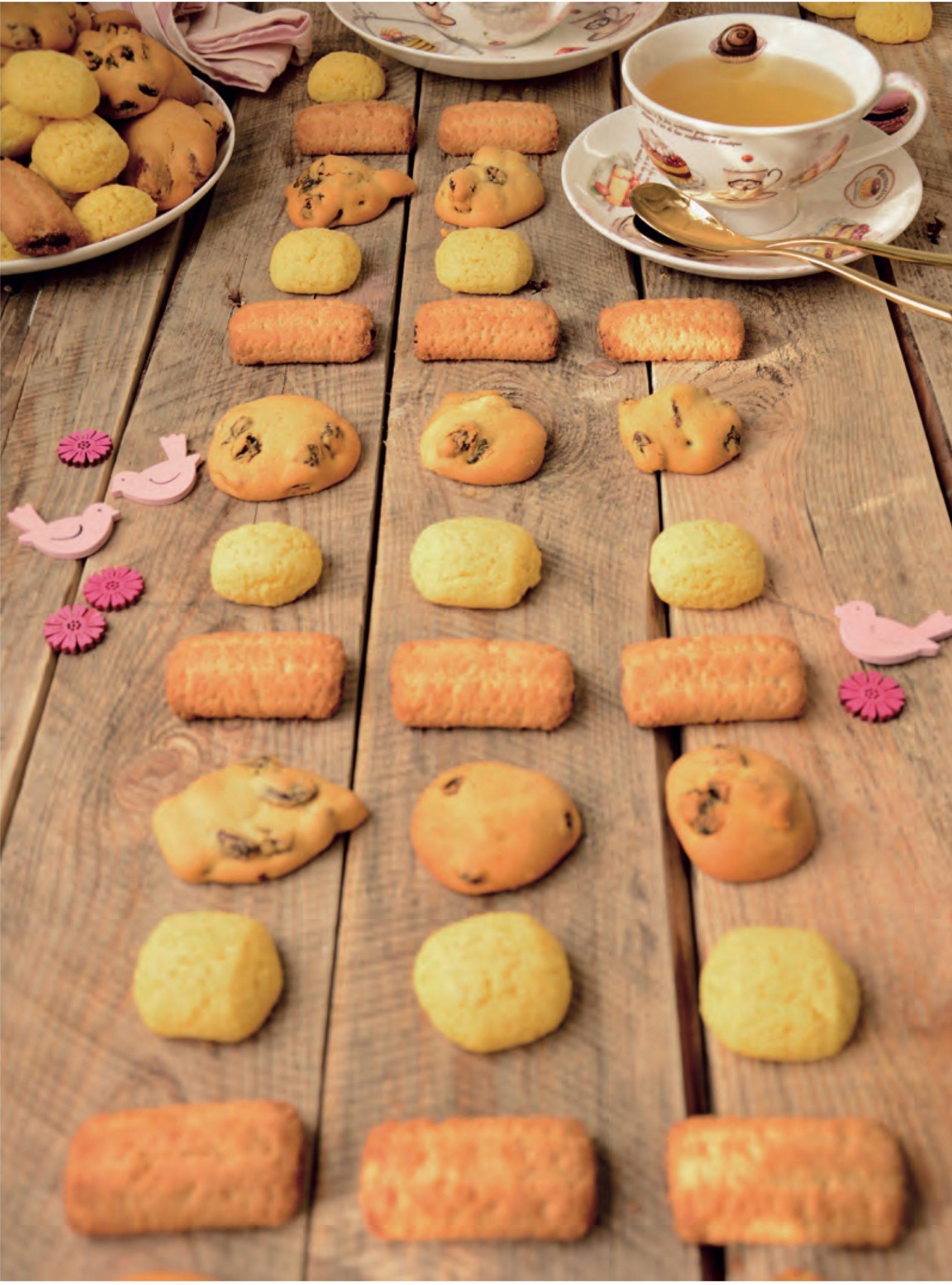 Il piano focale è la nona fila di biscotti dal basso