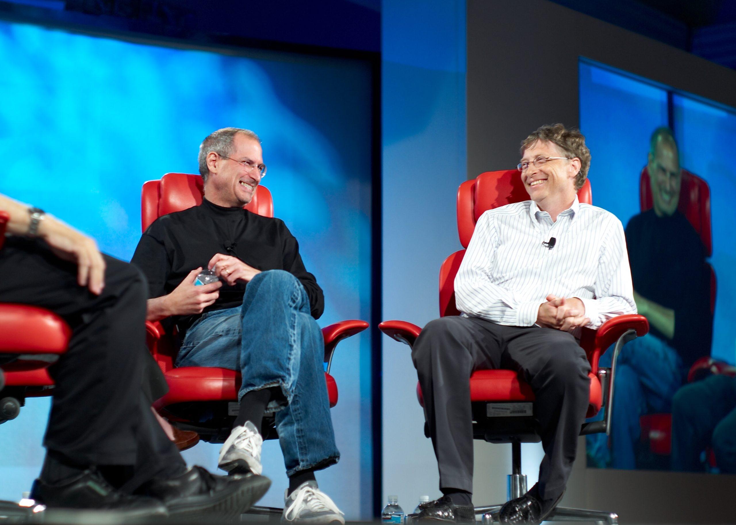 Il possibile Anticristo, seduto a fianco di Steve Jobs