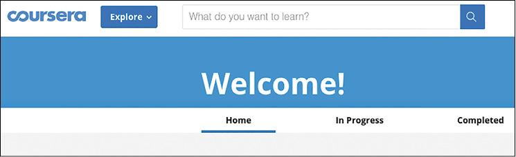Il saluto di Coursera