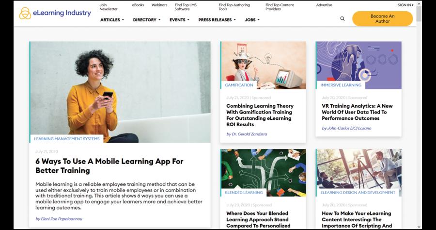 Il sito e-Learning Industry, a cui rimandiamo i lettori per vari approfondimenti su tendenze, statistiche e altro