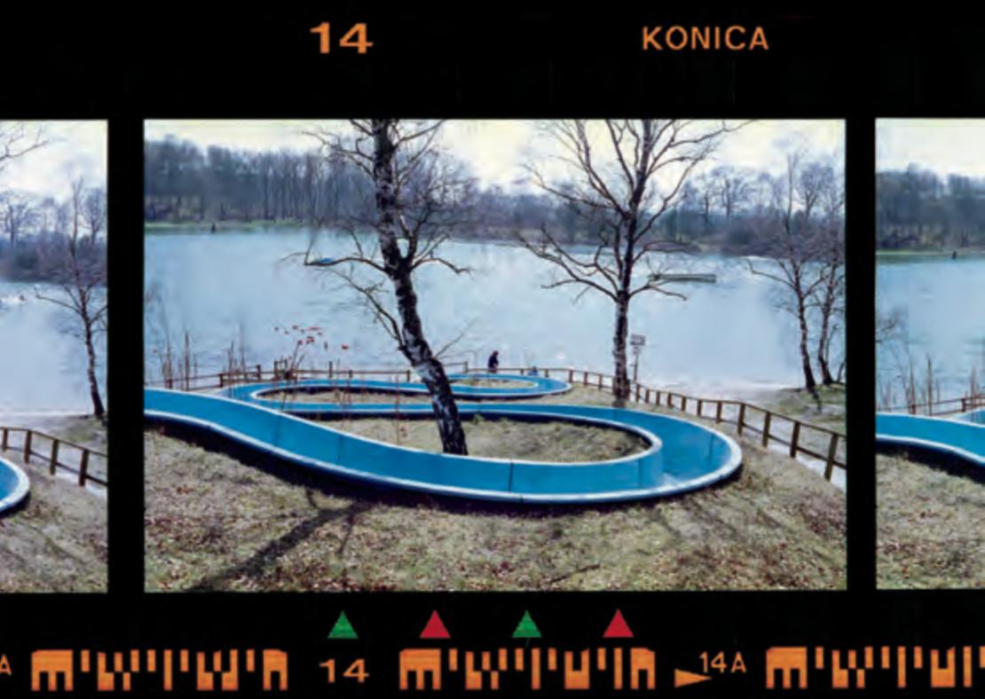 Konica Centuria 100, scaduta a maggio 2005. La variazione di colore dovuta al lungo periodo di archiviazione è perfetta per questo design