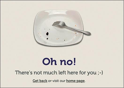 La pagina 404 di Cooklet: Oh no! Per te non è rimasto molto.