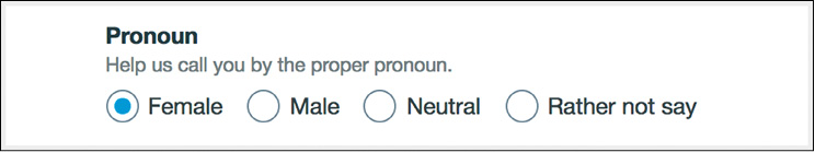 La scelta del pronome su Vimeo