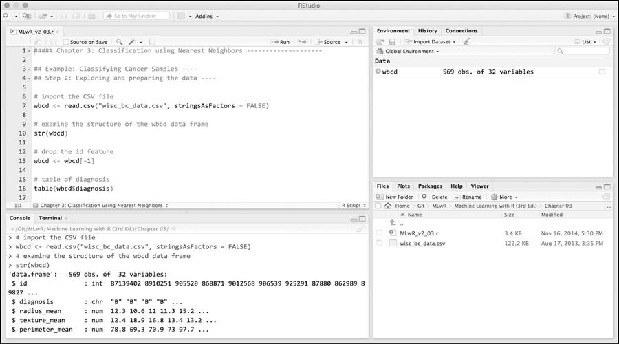 L'ambiente desktop RStudio facilita l'utilizzo di R