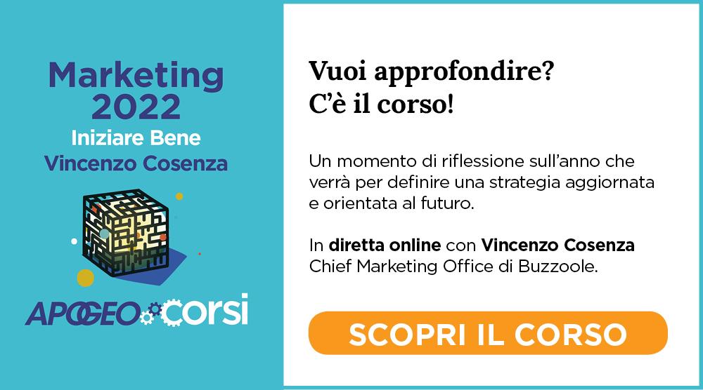 Marketing 2022 - Iniziare Bene, con Vincenzo Cosenza
