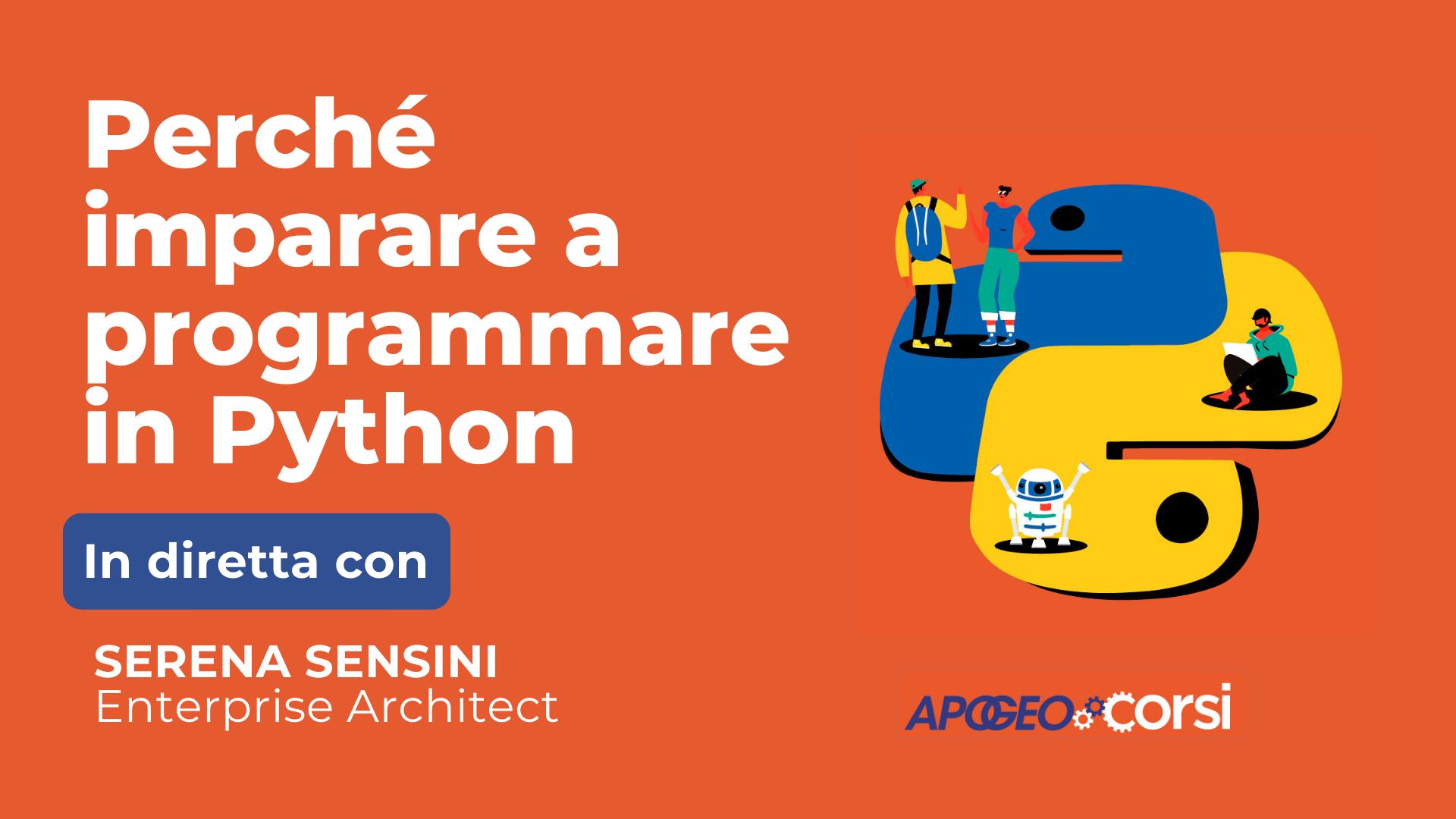 Perché imparare a programmare in Python, con Serena Sensini