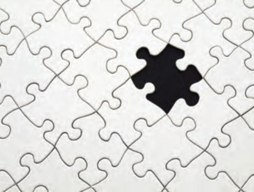 Perché l'occhio vede prima il pezzo di puzzle nero?