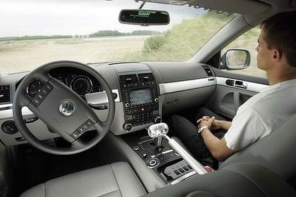 Dentro un'auto driverless