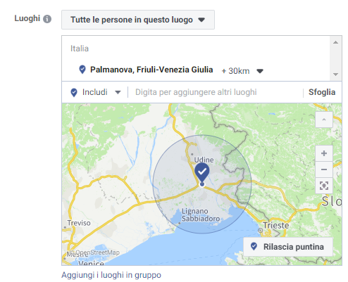 Ricordati di geolocalizzare la gelateria per la tua campagna su Facebook