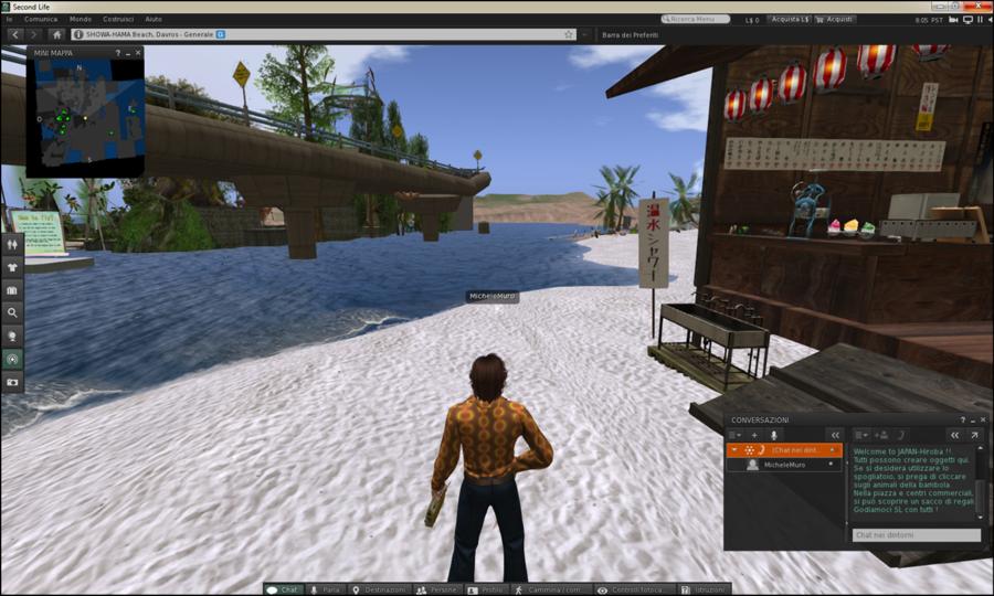 Second Life come si presenta oggi, presso una delle tante isole del suo vasto mondo virtuale