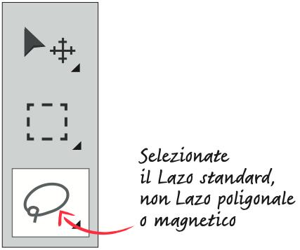 Seleziona il Lazo standard, non quello poligonale o magnetico