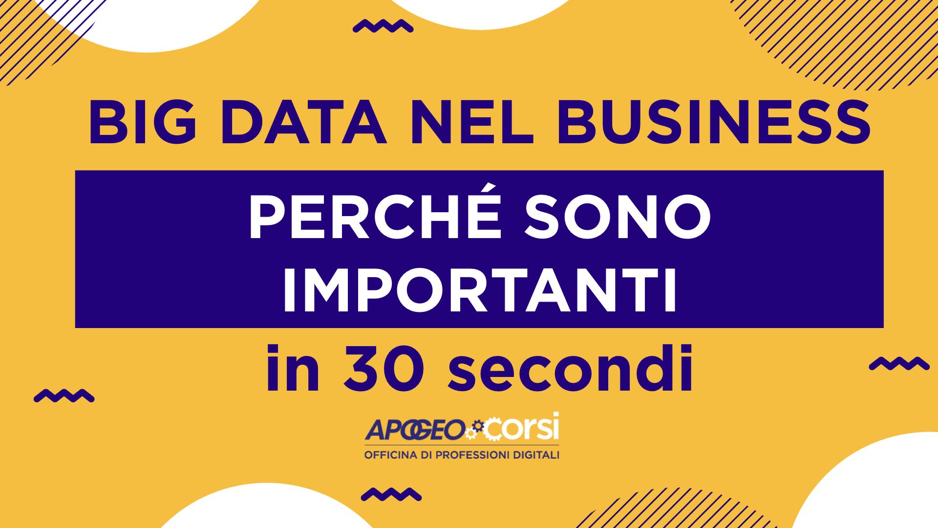 Big Data: perché sono importanti per il tuo business?
