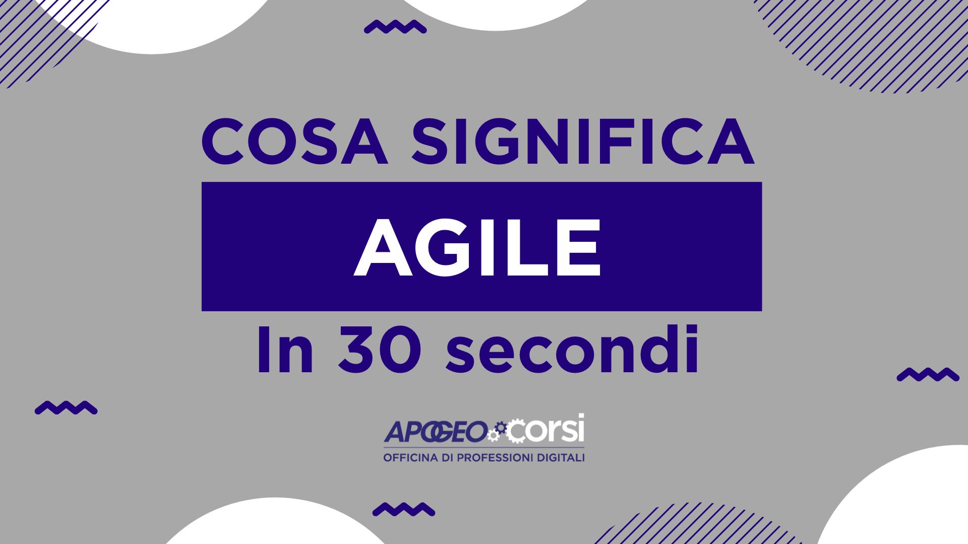 Cosa significa Agile in 30 secondi