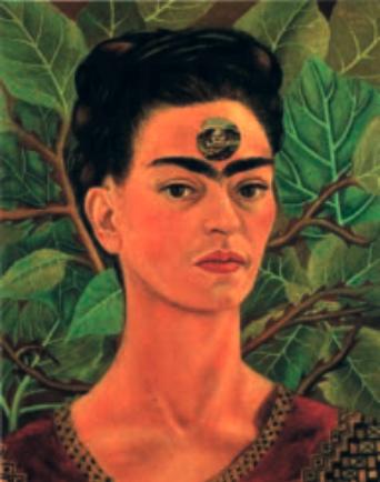 Un autoritratto di Frida Kahlo