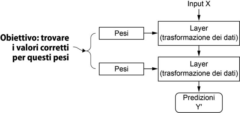 Una rete neurale è parametrizzata dai suoi pesi