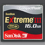 SanDisk CompactFlash Extreme III: 16 GB di memoria