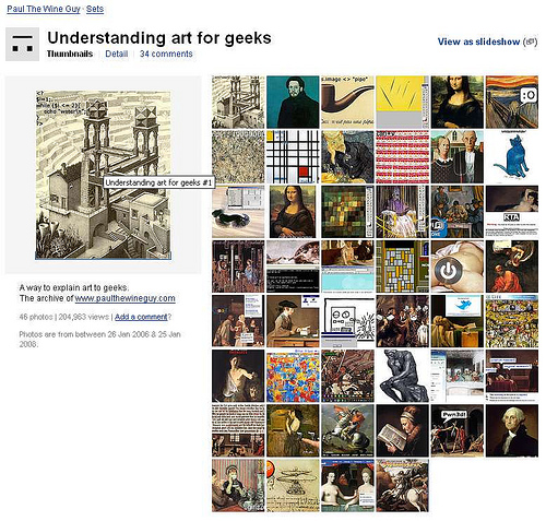 Understanding Art for Geeks, serie di Paul The Wine Guy su Flickr.com