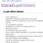 Petizione facile su Tiscali