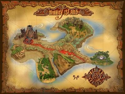 La mappa di Monkey Island