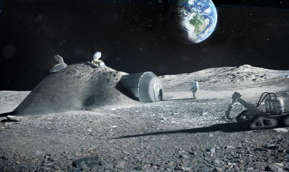 La colonizzazione della Luna potrebbe passare dalla stampa delle strutture abitabili.
