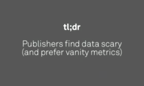 Publishers find data scary