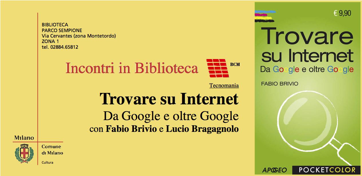 Trovare su Internet - invito
