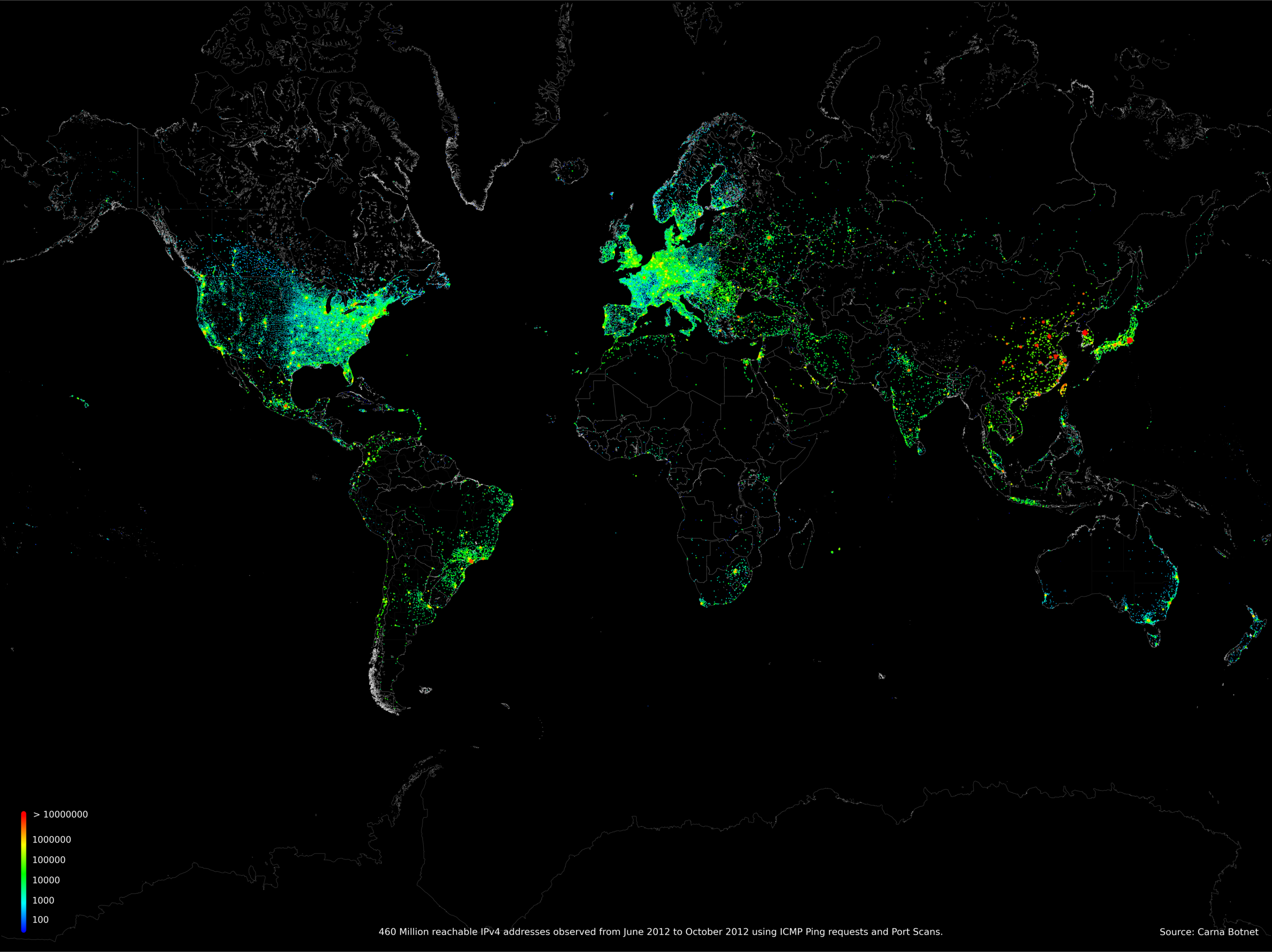 Mappa Internet Data Census 2012