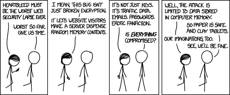 Heartbleed secondo xkcd