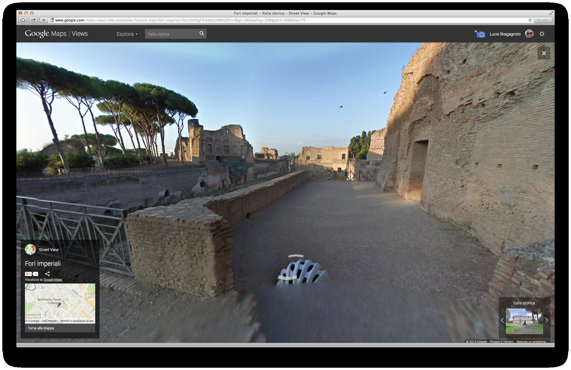 Fori Imperiali su Street View