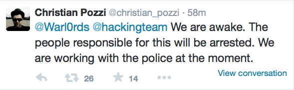 Tweet di Christian Pozzi
