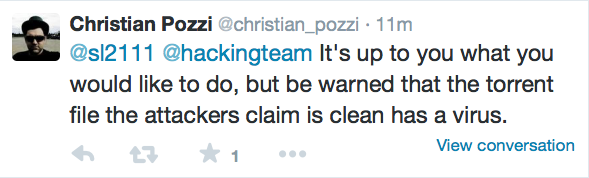 Altro tweet di Christian Pozzi
