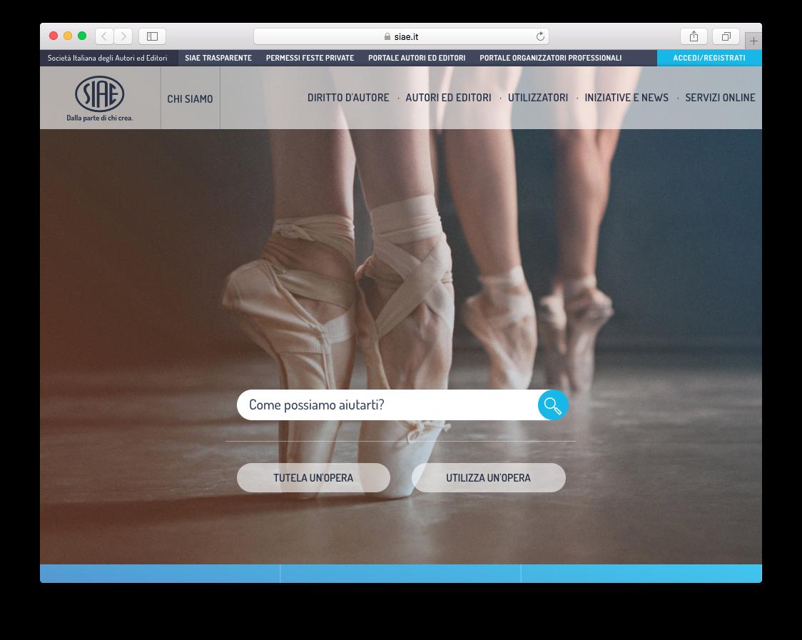 Il nuovo sito Siae.it