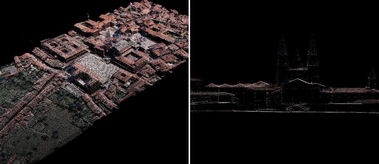 Santiago di Compostela visto al Lidar